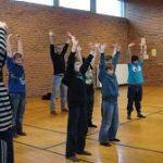Đan Mạch: trường Hammerum Friskole đã mời các học viên đến giới thiệu Pháp Luân Công.