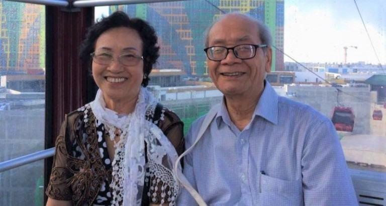 Ông Nguyễn Đình Thanh và vợ đều đang tu luyện Pháp Luân Đại Pháp